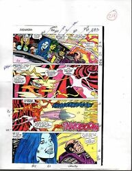 Original 1988 Avengers 296 Marvel Comics color guide art page 29: ThorShe-Hulk