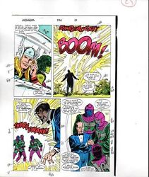 1988 Buscema Avengers 296 Marvel Comics color guide art page 25: She-HulkThor