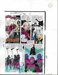 1988 Buscema Avengers 296 Marvel original color guide art page 20: She-HulkThor