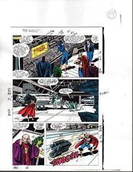 1988 Buscema Avengers 296 Marvel original color guide art page 19: She-HulkThor