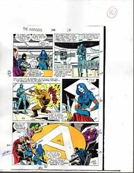 1988 Buscema Avengers 296 Marvel Comics color guide art page 16:ThorShe-Hulk