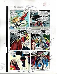 1988 Avengers 296 Marvel color guide art page:ThorShe-Hulk100s MORE INOURSTORE