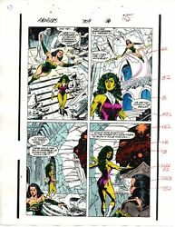 1989 Avengers 309 page 25 original Marvel Comics color guide art: She-HulkSersi