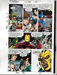1991 Avengers Marvel color guide art page:Captain AmericaThorIron ManShe-Hulk