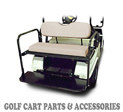 Club Car DS Golf Cart Rear Flip Seat Kit 1982-2000.5  *BUFF SEAT CUSHIONS* $330.00