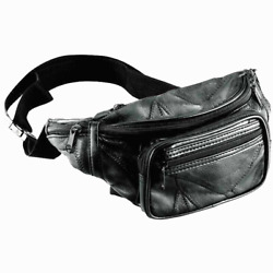 FANNY PACK Sling Bag Black Leather Mens Waist Belt Womens Pouch Chest Crossbody $12.99