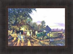 ONCE IN A LIFETIME by Dave Barnhouse 17x23 FRAMED ART PICTURE John Deere Tractor $36.95