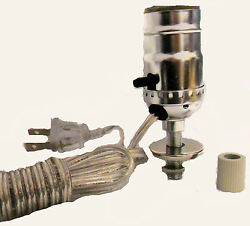 Lamp parts: nickel pre wired bottle kits 3 4quot; adapter $6.95
