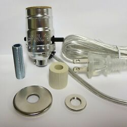 Lamp parts: nickel pre wired bottle kits 3 4quot; adapter $6.77