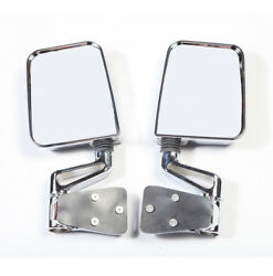 Chrome Dual Focal Mirror Pair fits Jeep Wrangler YJ TJ 1987-02 Rugged Ridge