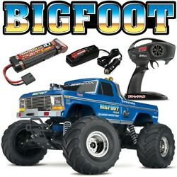 NEW Traxxas BIGFOOT #1 CLASSIC BLUE 2WD RTR RC Monster Truck w Battery amp; Charger $245.99