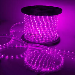 Pink LED Rope Light 110V Home Party Christmas Decorative InOutdoor