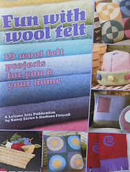 Craft Pattern Books using Felt Wool Penny Rugs Ornaments Seasonal Accents etc