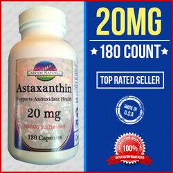 Astaxanthin Powerful Antioxidant Support 12Mg +3 = 15 Per Serving Size Made USA