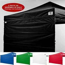 10x10 Canopy Tent Side Walls Outdoor Pop up Canopy Sidewalls - TWO WALLS ONLY
