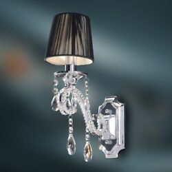 Crystal Wall Lamp K9 Crystal Chandelier Wall Sconce Polished Chrome Finish $97.90