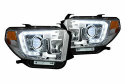 RECON Lighting Projector Headlights w LED DRL's - Clear 14-15 Toyota Tundra