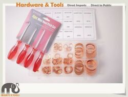 16 sizes 160pc Copper Washer Assortment Seal Ring Kit Sump Plug+4pc Mini Hook $27.01