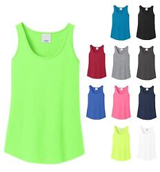 LADIES TANK TOP LAYERABLE COTTON or BLEND SOLID or NEON! SIDE SEAMED XS-4XL $6.85
