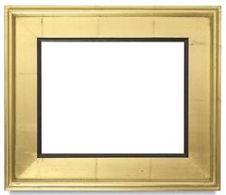 CLASSIC MODERN STYLE PICTURE PAINTING FRAME PLEIN AIR WOOD GOLD BLACK 3.25quot; WIDE $96.48