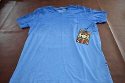 Lions Crest by English Laundry Fashion Designer Shirts V Neck BLUE