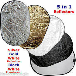 Collapsible Multi Lighting Reflector 40X60quot; 5 n 1 Photo Studio Photography New $30.10