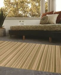 Indoor  Outdoor Rugs Flatweave Contemporary PatioPoolCamp and Picnic Carpet