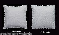Handmade Cotton Crochet Lace Pillow Cushion Cover 16x16