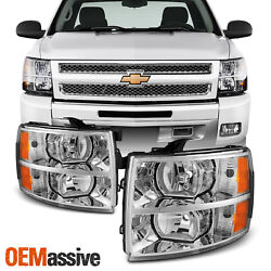 Fit 2007-2013 Chevy Silverado 1500 2500 3500 Replacement Headlights L+R Pair $108.99