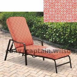 Patio Chaise Lounge Adjustable Back Deck Red Relax Outdoor Chair 4HD PHOTO