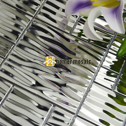 weave pattern 304 stainless steel metal mosaic tiles for kitchen backsplash