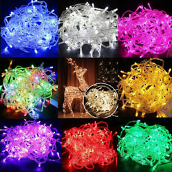 100 LED 10M Christmas Tree Fairy String Party Lights Xmax Waterproof Color Lamp $5.89
