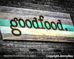 Mint kitchen pictures teal food photograph rustic kitchen decor cottage chic $30.00