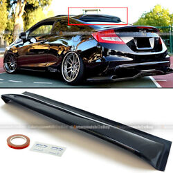 For 12 15 Civic 2dr Coupe Rear Window Roof Sun Rain Shade Vent Visor Spoiler