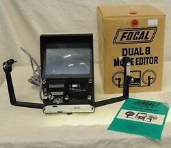 focal dual 8 movie viewer editor in box