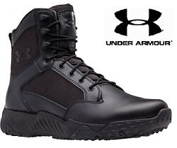 Under Armour Black Stellar Tactical Boots UA 8quot; Field Duty Military Style Boot $84.99