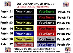 **LOVE IT OR IT#x27;S FREE** Custom NAME TAG Embroidered quot;Iron onquot; Free Shipping $3.99