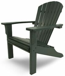 Outdoor Adirondack Chair Chaise Lounge Patio Deck Recline Wood-like All Weather