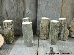 25 tree branch candle holders rustic weddings country decor cabins log