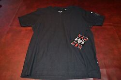Lions Crest English Laundry Designer Shirts V Neck Black or White NWT