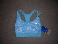 Champion Bra Top Women#x27;s Size XS Blue White NWT NEW $26.95