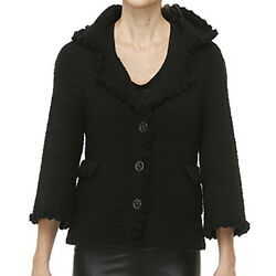 Chanel Cashmere Mohair Cardigan Jacket - Size 40
