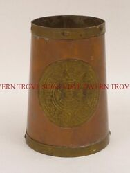1960s Aztec calendar brass and copper Beer Stein Mug Tavern Trove
