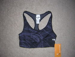 Champion Bra Top Women#x27;s Size S P Black Gray NWT NEW $26.95