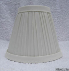 Five 5 New IVORY Pleated Fabric Chandelier Lamp Shade Traditional any room $40.00