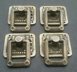 4 Arts and Crafts Mission antique style brass ring pull handles 1 1 4quot; #H29 $19.95