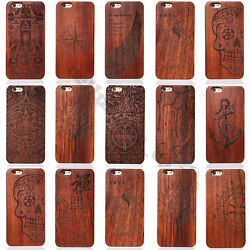 Luxury Natural Wooden Wood Bamboo Case For Apple iPhone 6sPlus 5s Cover Shell