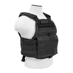NcStar BLACK Police Military Tactical MOLLE / PALs Adj Plate Carrier Vest $48.95