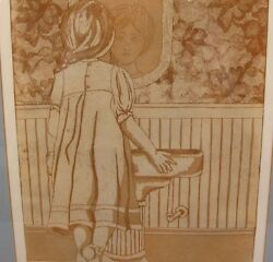 The Birth of Self-Consciousness Framed Print Young Girl Mirror Reflection Esteem