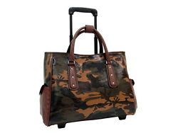 Mellow World Camouflage Rolling Laptop Tote Carry On Luggage Big Camo Bag Travel $149.00